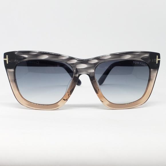 b568a891497a Tom Ford Sunglasses Celina Gray Peach
